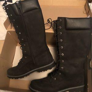 Black Tall Timberland Boots